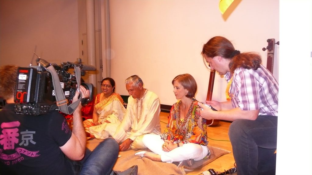 Interview with Mrs. Annette Krause, SWR TV, Moderator. Indian Summer Concert Linden Museum Stuttgart 2012